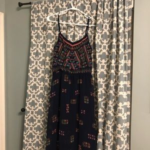 Summer geometric maxi dress